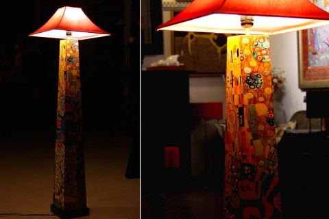 PAINTED FLOOR LAMP