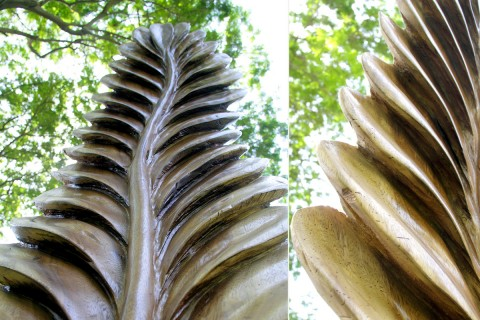 LEAF WOODEN SCULPTURE