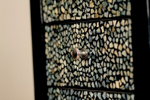 MOTHER OF PEARL WOODEN CABINET